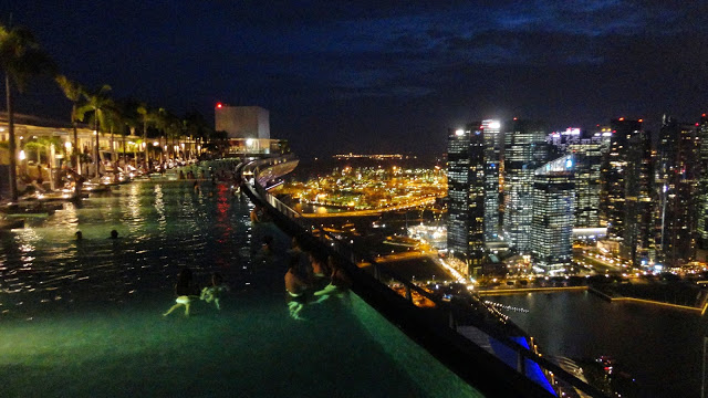 Singapore night view of the Marina Bay