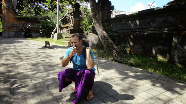 Christian e os Macacos do Templo de Uluwatu