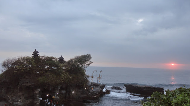 Por do Sol Templo de Tanah Lot