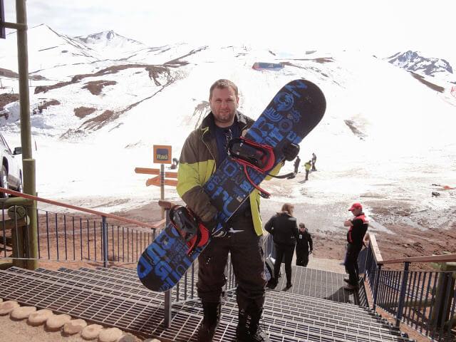 Christian Gutierrez no Snowboard