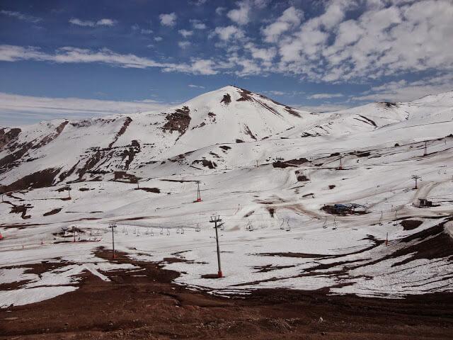 No skiing Valle Nevado
