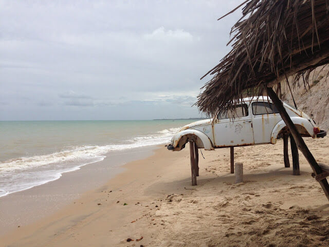 Beach rotto auto Maceio