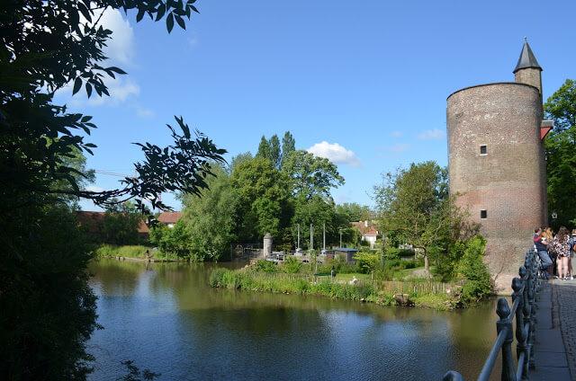 Lago do amor em Bruges