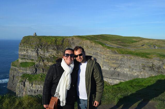 Cliffs of Moher, uma das principais atrações da Irlanda, perto da cidade de Galway