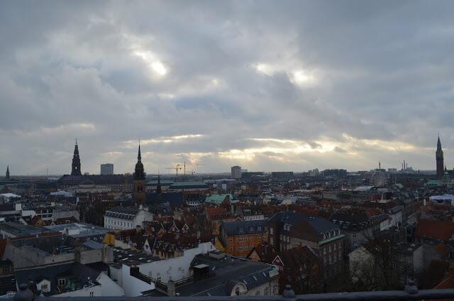 Vista panorâmica de Copenhague
