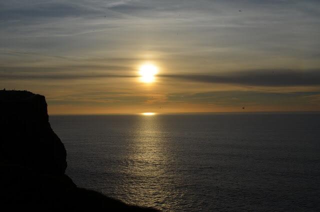 Por do sol Cliff of Moher