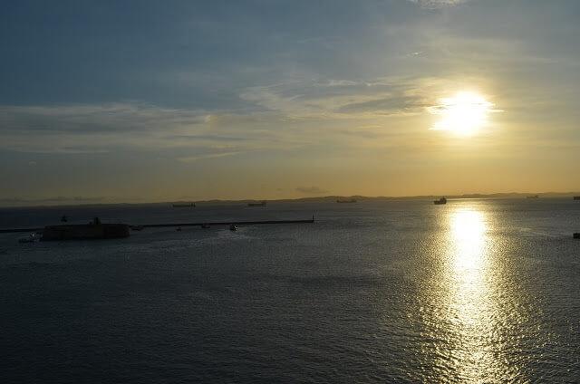 puesta del sol en Salvador