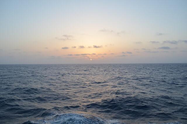 Por do Sol no Mar