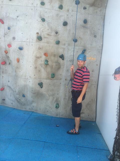 Christian Gutierrez fazendo escalada