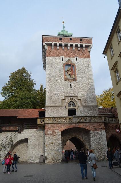 St. Porte Brama Floriańska Florian