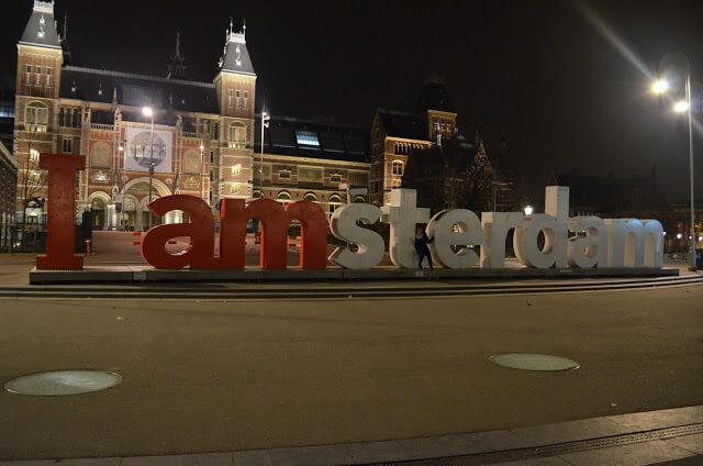 I Amsterdam de noite