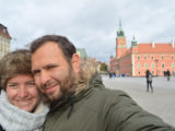 Chris and Pri in capital of Poland