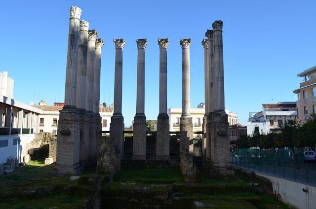 Templo Romano descoberto nos anos 1950