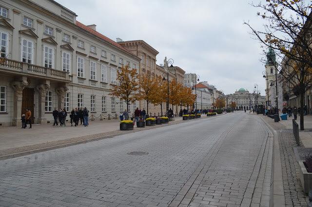 rua de Varsovia Krakowskie Przedmiescie
