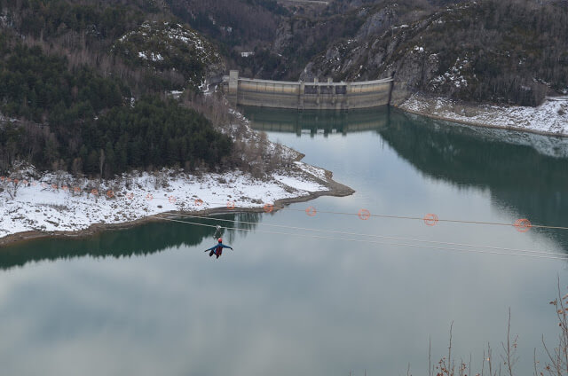 Tyrolean, the second largest zip line in Spain