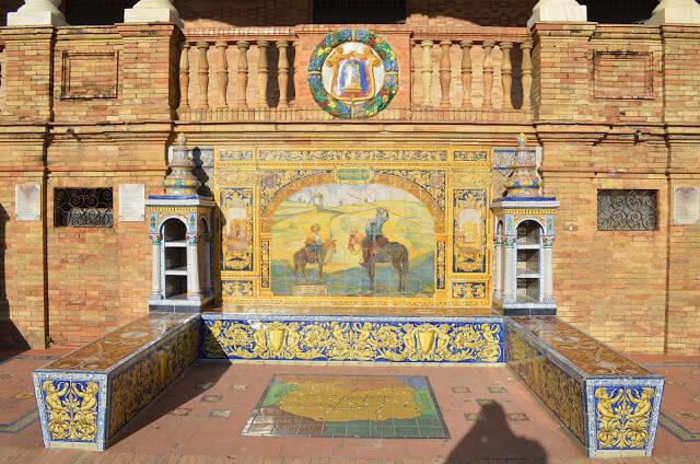 azulejos em homenagem a cada província da Espanha