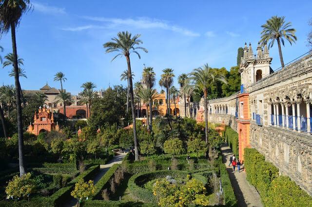 Alcázar Real de Sevilha filmagem de GOT