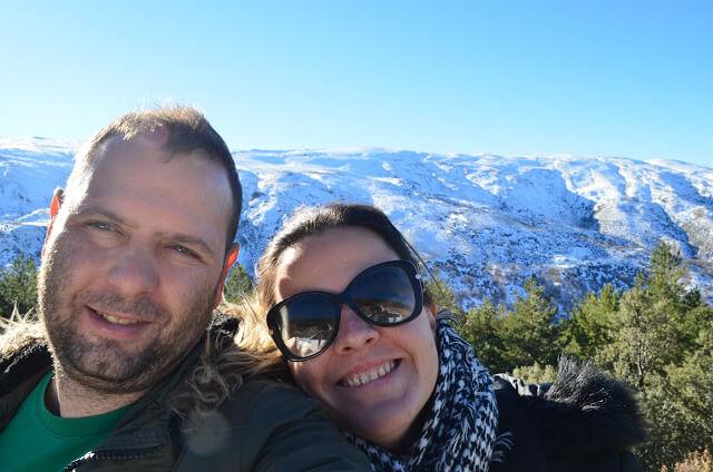 Priscila y Christian Gutiérrez en Sierra Nevada