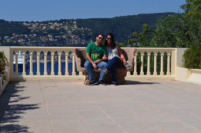 In the background Villefranche