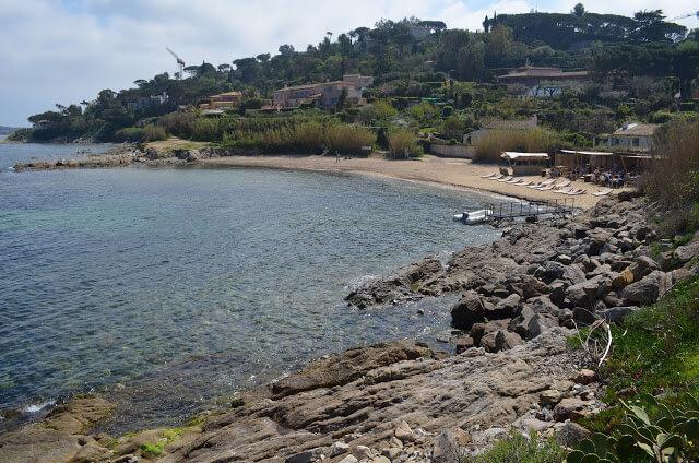 spiaggia Granier in Costa Azzurra