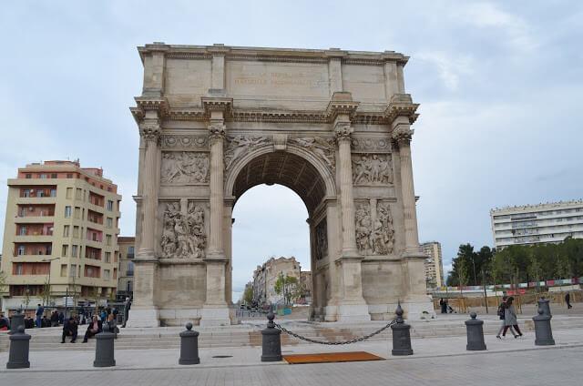 Arch of Triumph in Marseilles