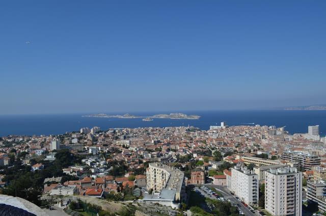 Vista do alto de Marselha
