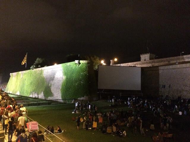 Cinema ao ar Livre em Barcelona
