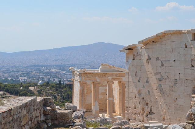 Acrópole e a cidade de Atenas