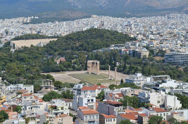 Templo de Zeus visto da Acrópole