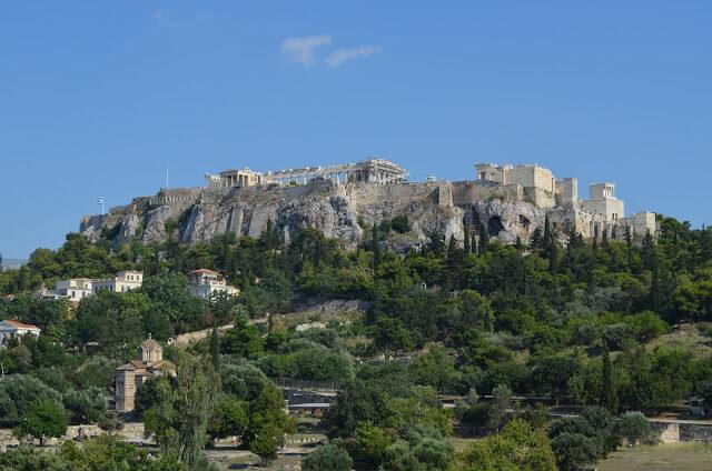 Acropole vista a partir do Agora Atenas