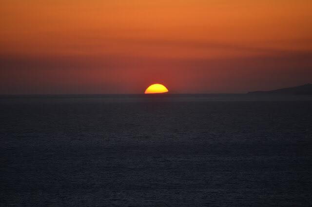 Por do sol em Mykonos