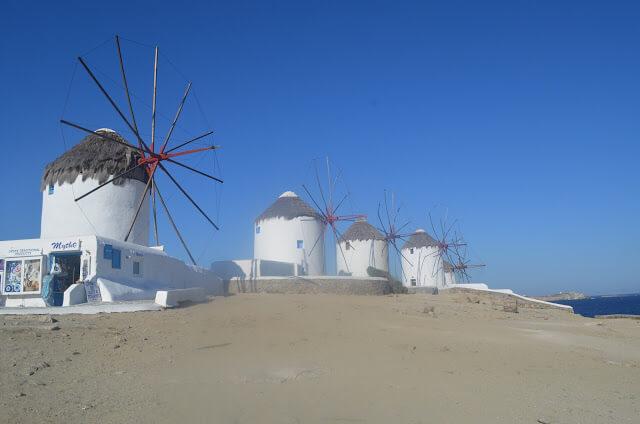 Moinho de ventos de Mykonos