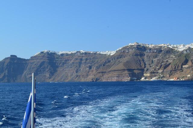 Se despedindo de Santorini