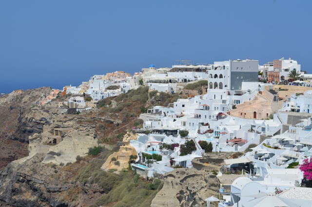 Cidade de Oia na Ilha Santorini