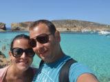 Nós na Blue Lagoon de Malta