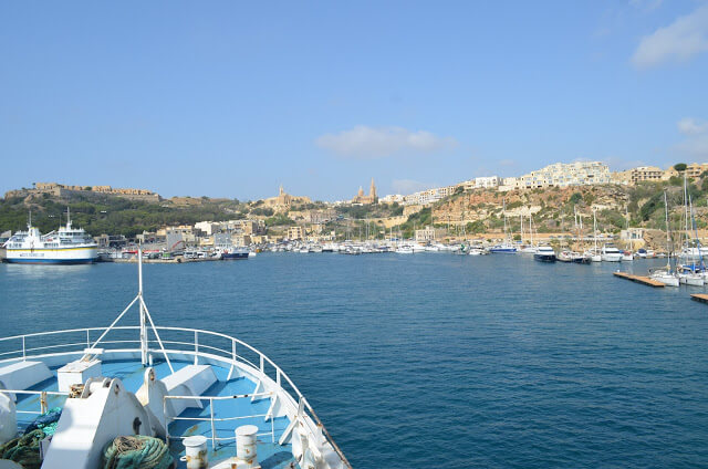 Chegando na Ilha de Gozo