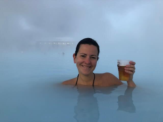 Priscila Gutierrez na Blue Lagoon