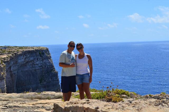 Pri e Chris no Dingli Cliffs