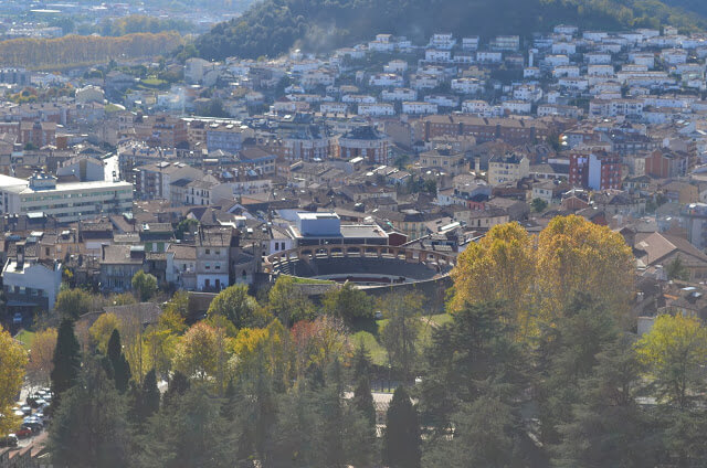 Vista da cidade de Olot