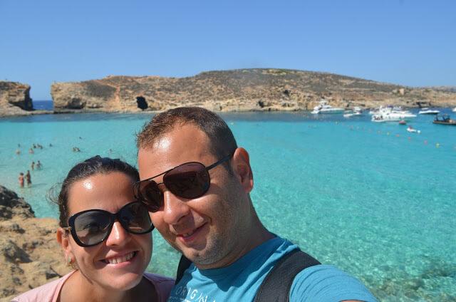Christian e Priscila Gutierrez na Blue Lagoon