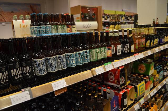 Preço caro das bebidas na Islândia