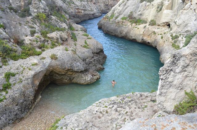 Wied il-Għasri, uma espécie de cânion