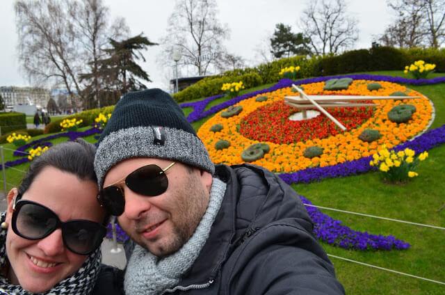 Priscila e Christian Gutierrez em Genebra