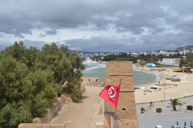 Hammamet, beautiful beaches in Tunisia, near the capital Tunis