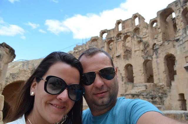Priscila Gutierrez e Christian Gutierrez em El Jem