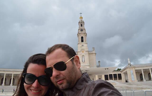 Pri e Chris no Santuário de Fátima