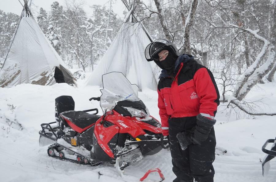 Laponia finlandesa nieve Moto