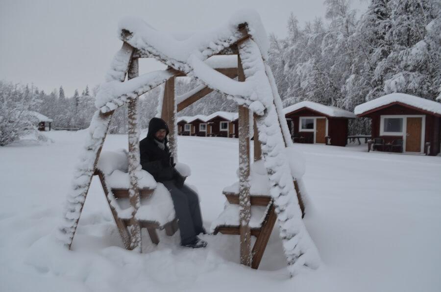 Enjoying the snow in Finland