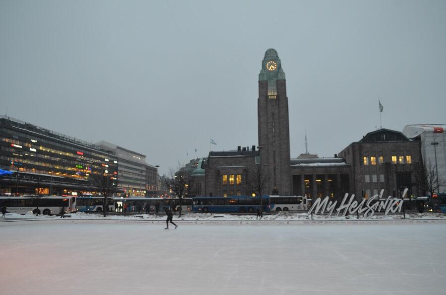 pista de patinação, my Helsinki