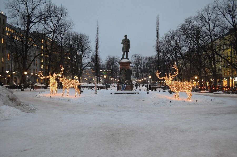 parque Esplanadi em Helsinque